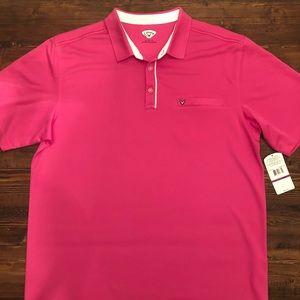 NWT Callaway Pink golf shirt